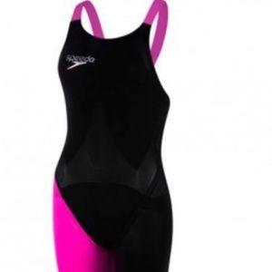 Speedo Lazer Elite tech suit comfort strap in pink